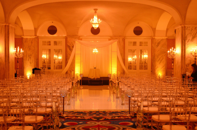 Our Lucite Chiavari chairs at The Ritz Carlton Philadelphia