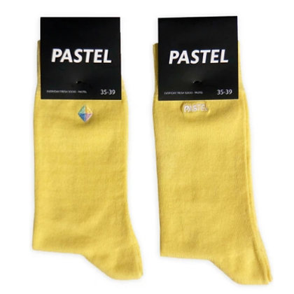 Pastel Socks Yellow