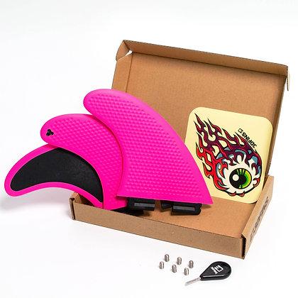 3DFins GoHard/Soft Pink Thruster Set
