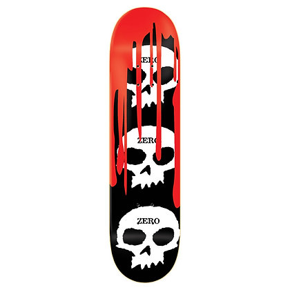"Zero - 3 Skull Blood Black 8.0"""