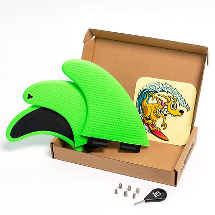 3DFINS GoHard/Soft Green Thruster Set