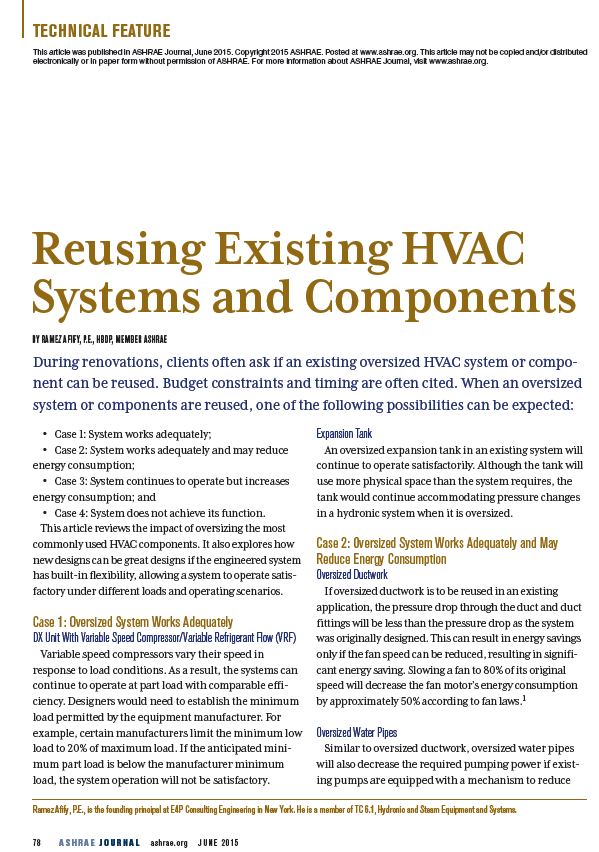 Reusing Existing HVAC Systems and Components