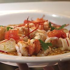 Risotto alla pescatora (Seafood risotto)