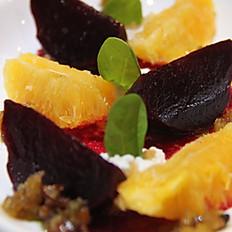 Insalata barbabietole e arancie (Beetroot and orange salad)