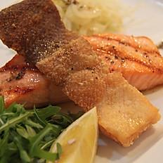 Salmone norvegese alla griglia (Grillled Norwegian salmon)