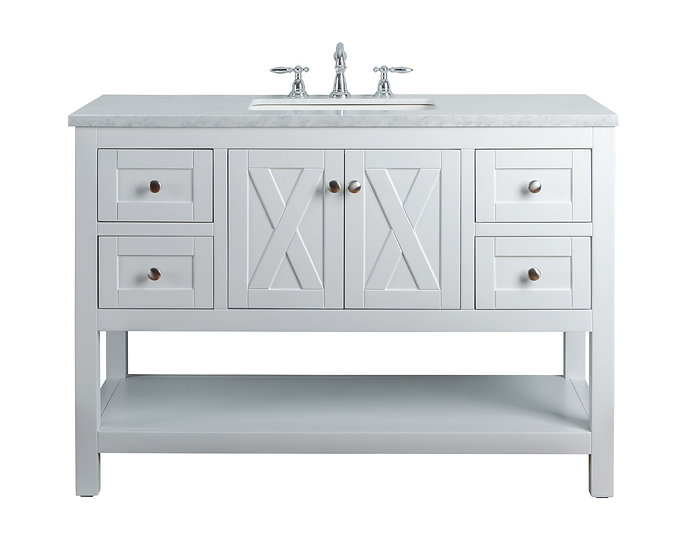"Anabelle 48"" White Single Sink Vanity"