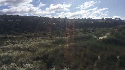 View of the beach from the 16th tee