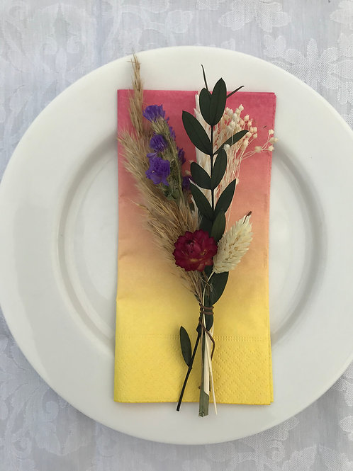 Dried Flower Table Settings x 4