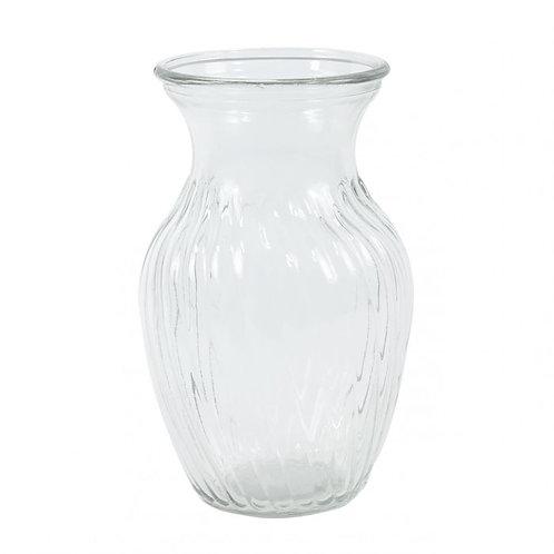 SALE Glass Sweetheart Vase