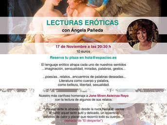17 Noviembre. Lecturas eróticas con Ángela Pañeda. Organiza Asoc. La Corneta