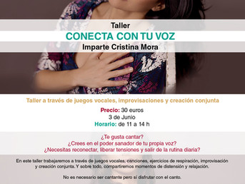 3 de Junio. Conecta con tu Voz con Cristina Mora.