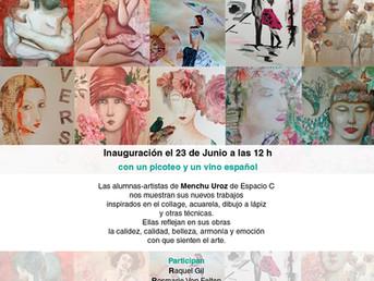23 de Junio. Inauguración exposición artistas alumnas de Menchu Uroz