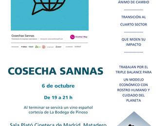 6 de Octubre. Cosecha Sannas. Evento en Matadero. Empresas del cuarto sector. Espacio C colabora com