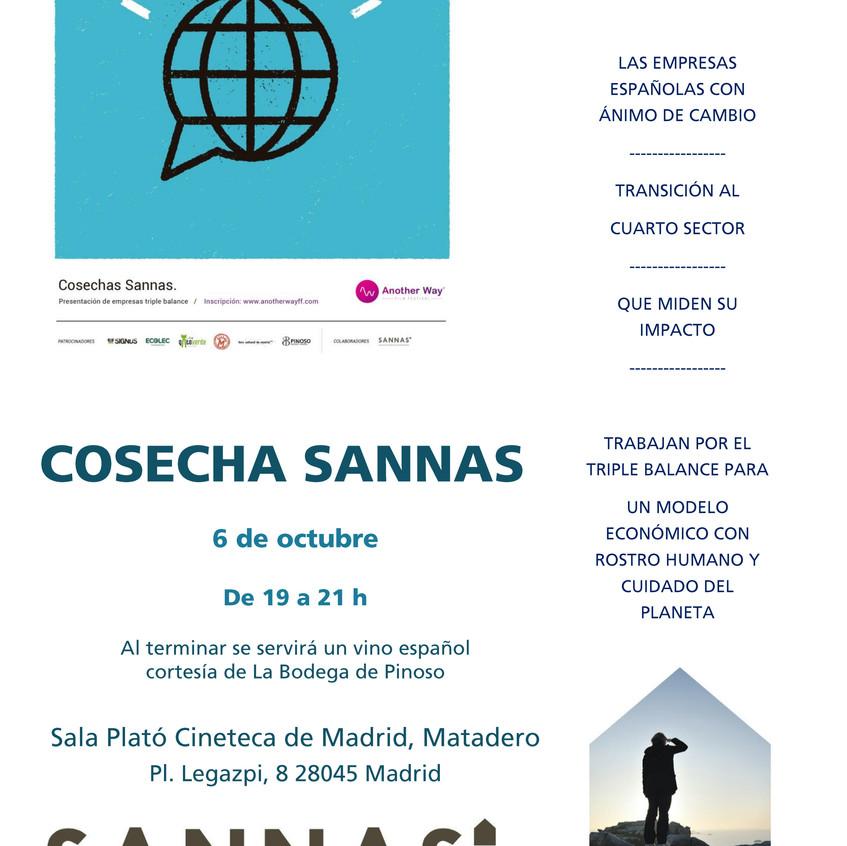 INVITACION COSECHA SANNAS AWFF OCTUBRE 2