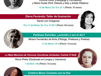 Marzo y Abril. Espacio Mujer: Conferencias y Talleres