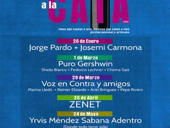 #JazzalaCata 2020. Empezamos en enero. Un proyecto de #culturasostenible. Jazz y picoteo artesanal,