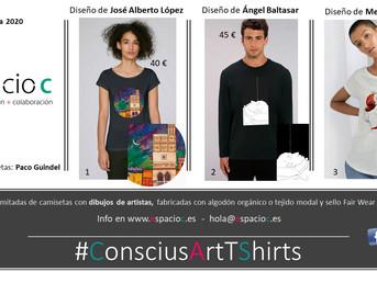 #ConsciusArtTShirts. Las nuevas camisetas de Espacio C que respetan el planeta y cultivan el arte co