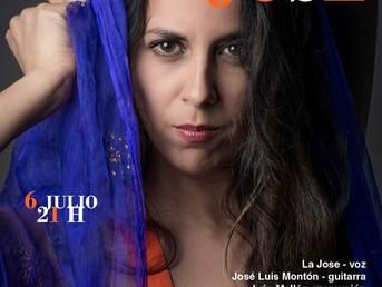 6 de Julio a las 21 h. Concierto de La Jose con José Luis Montón e Iván Mellen. Organiza Asociación