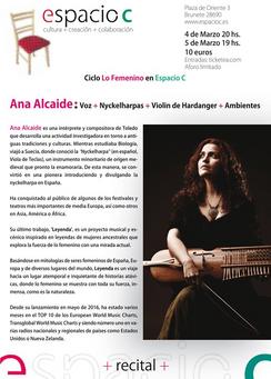 ANA ALCAIDE recital
