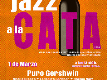 1 de Marzo. Puro Gershwin en Jazz a la Cata en Centro Cultural de Brunete. #CulturaSostenible