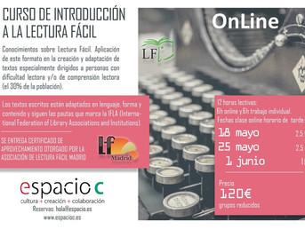 Curso online Introducción a la Lectura Fácil. Asociación Lectura Fácil Madrid