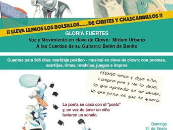21 de Enero. Chistes, bolsillos y chascarrillos con Gloria Fuertes y l+s mas pequeñ+s de la casa