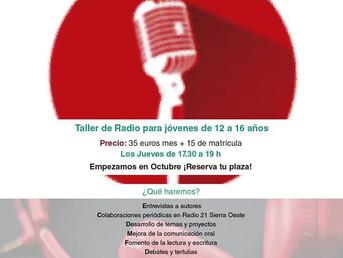 Octubre. El club del micro rojo. Taller semanal de radio para jóvenes de 12 a 16 años