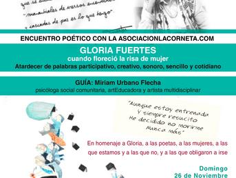 26 de Noviembre. Encuentro poético con Gloria Fuertes y asociacionlacorneta.com