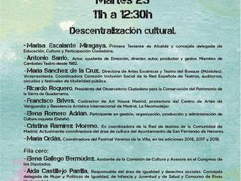 #OperaciónCultura. 23 y 24 de Octubre. Espacio C participa en mesa de #descentralización