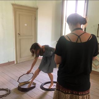 Silvia Morandi and Erica Shires working