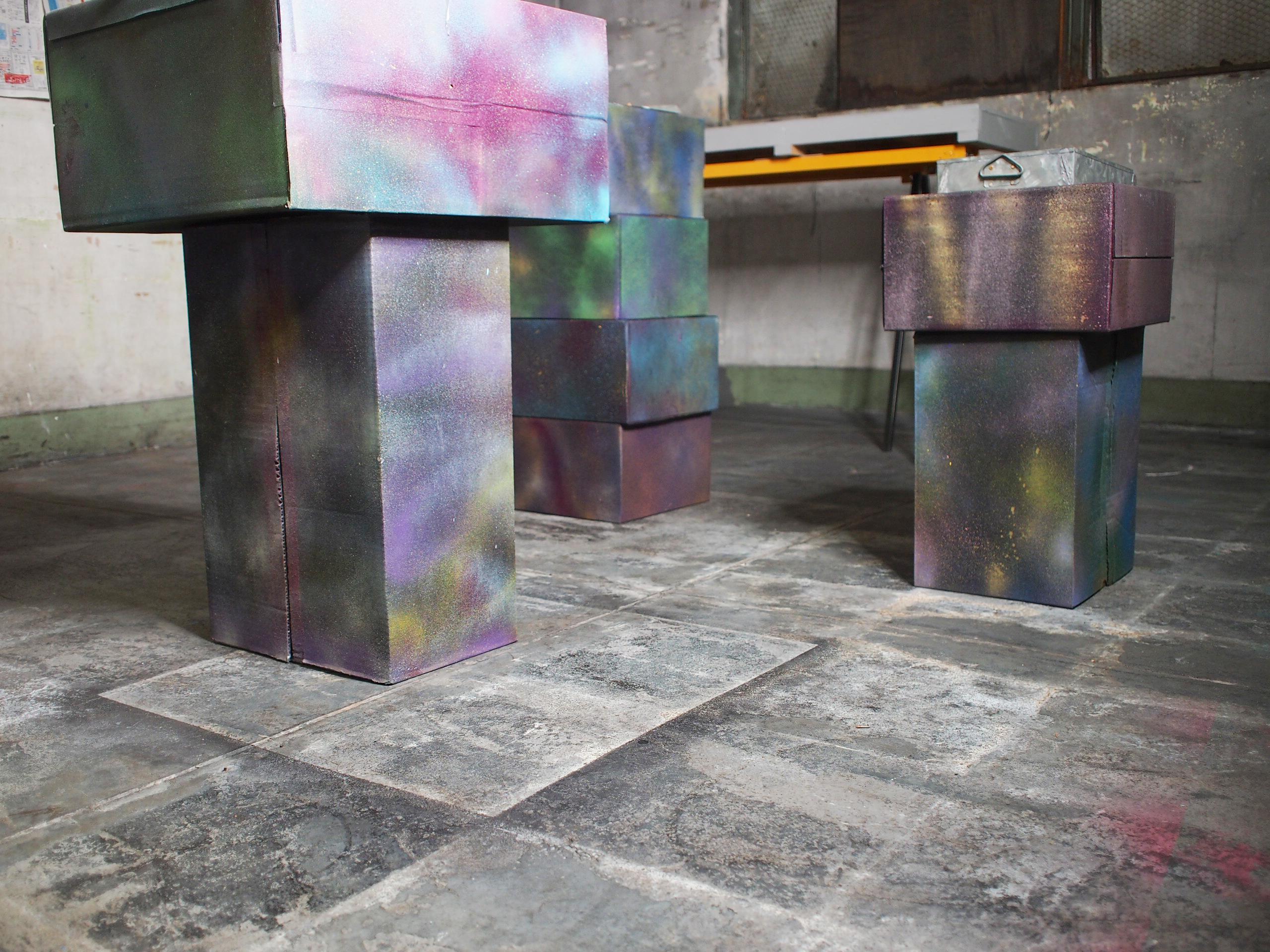 impression of concrete-ground