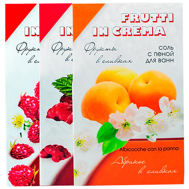 Соль для ванн со сливками «Frutti in crema» 500г