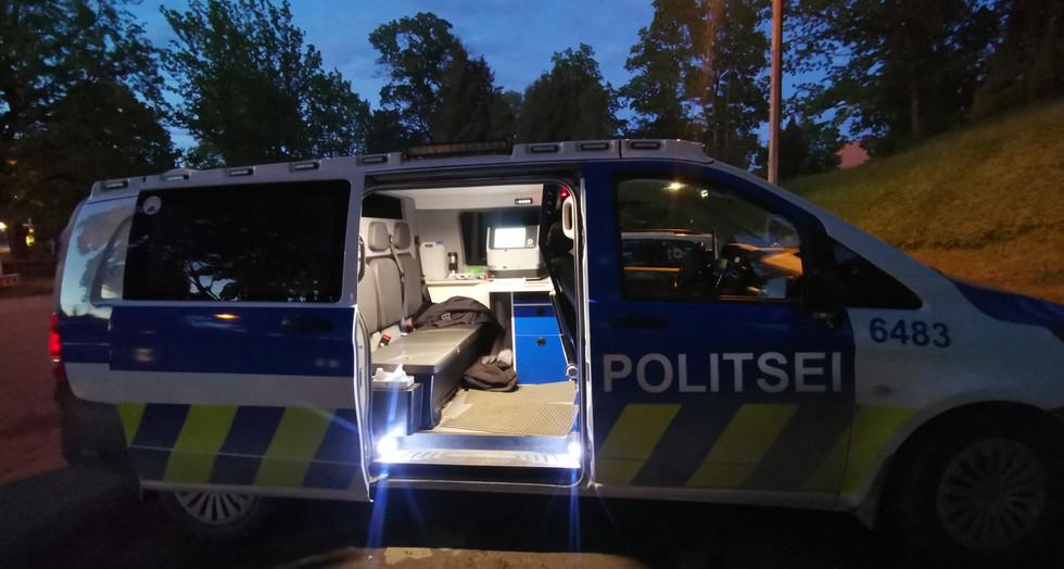 Drug analysis in police car.jpg