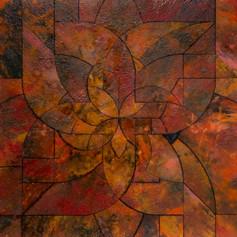 Wabi Sabi 2020 Acrylic, Pigment & Resin on Reconstructed Board 133x77cm