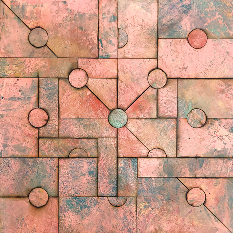 Inner Puzzle 2020 Acrylic On Reconstructed Board 70x70cm
