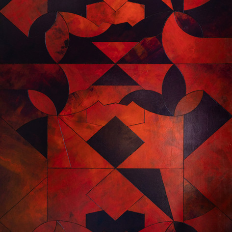 Our Pattern, Your Interpretation I 2020 Acrylic Reconstructed Board, 81x108cm
