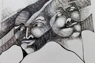 Serie máscaras / Masken 1