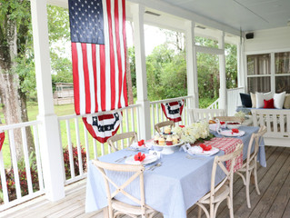 Setting A Memorial Day Table