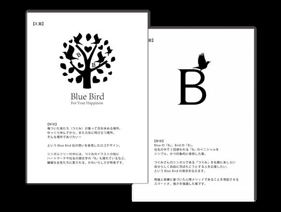 ロゴ制作&名刺制作 | 株式会社Blue Bird様