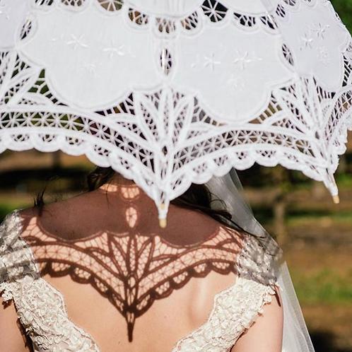 Ivory Lace Parasol