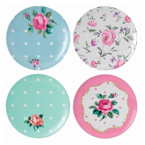 Melamine Floral Tea plate