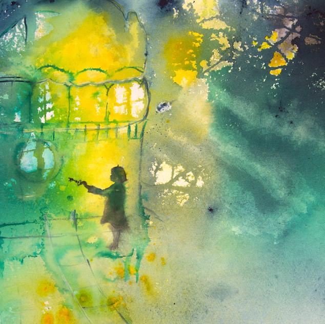 caroline_walker_akvarell_grön_gul_Secre