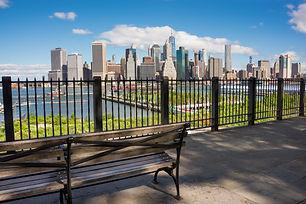 New york skyline seen from Brooklyn heig