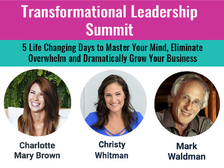ELIMINATE OVERWHELM AT THE INTERNATIONAL LEADERSHIP SUMMIT