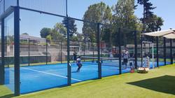Terrain de padel à Roland Garros 2021