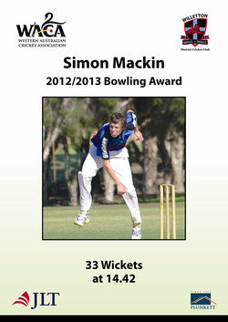 Simon Makin 201213 bowling award
