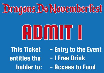 Dragon Novemberfest Ticket