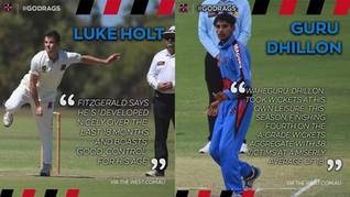 Holt & Guru recognised in Top 10 Rising Cricket Stars list