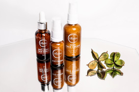 Anti-aging face serum, magic eye cream and magic face cream by Diazo Cosmetics