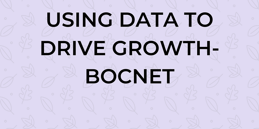 Using Data to Drive Growth- BOCNET